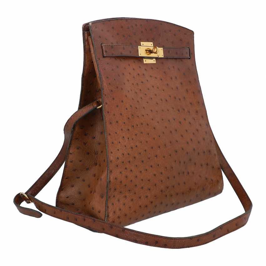 "HERMÈS VINTAGE shoulder bag ""KELLY SPORT"" OSTRICH ""MM"", collection: in 1988, original price: approx. € 6.000,-€. - photo 2"