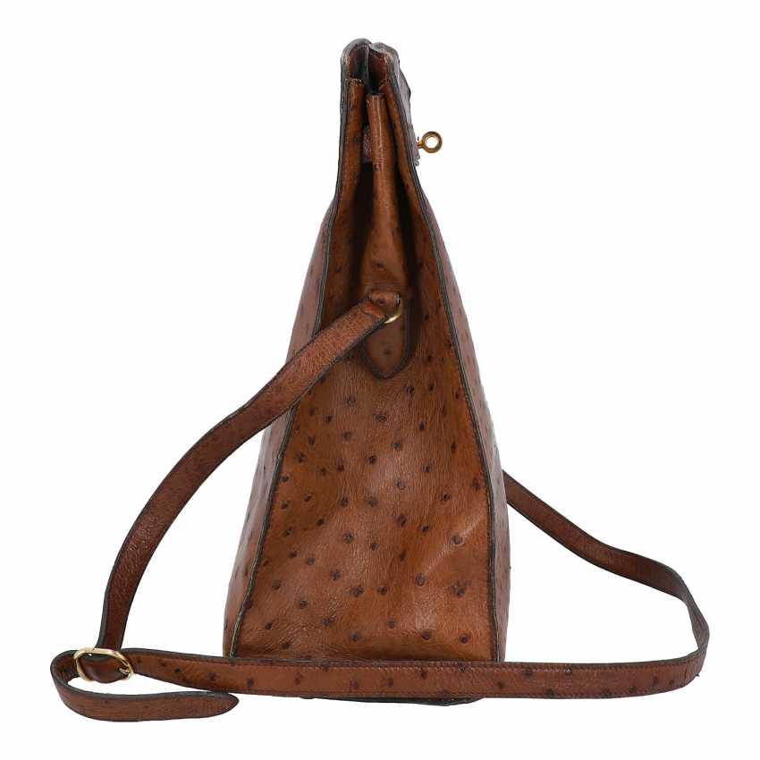 "HERMÈS VINTAGE shoulder bag ""KELLY SPORT"" OSTRICH ""MM"", collection: in 1988, original price: approx. € 6.000,-€. - photo 3"