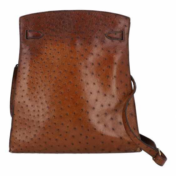 "HERMÈS VINTAGE shoulder bag ""KELLY SPORT"" OSTRICH ""MM"", collection: in 1988, original price: approx. € 6.000,-€. - photo 4"