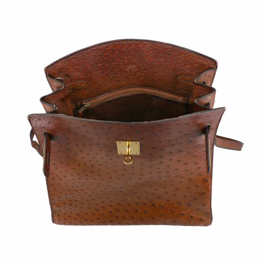 "HERMÈS VINTAGE shoulder bag ""KELLY SPORT"" OSTRICH ""MM"", collection: in 1988, original price: approx. € 6.000,-€. - photo 6"