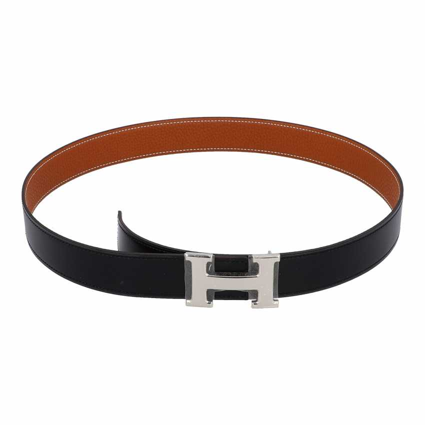HERMÈS reversible belt, collection: 2010. Length 85cm. - photo 1