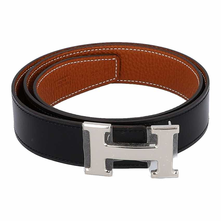 HERMÈS reversible belt, collection: 2010. Length 85cm. - photo 2