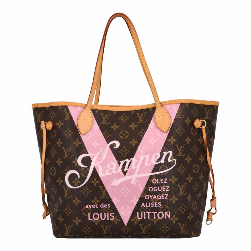 "LOUIS VUITTON x Kampen shopper tote bag ""NEVERFULL MM"", collection: 2015, original price: approx. € 1.300,-€. - photo 1"