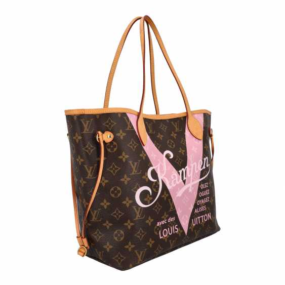 "LOUIS VUITTON x Kampen shopper tote bag ""NEVERFULL MM"", collection: 2015, original price: approx. € 1.300,-€. - photo 2"