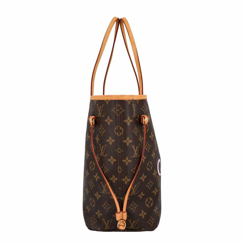"LOUIS VUITTON x Kampen shopper tote bag ""NEVERFULL MM"", collection: 2015, original price: approx. € 1.300,-€. - photo 3"