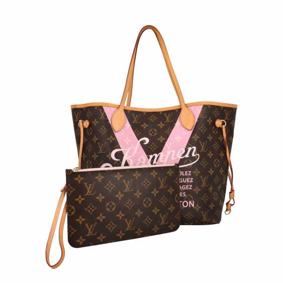 "LOUIS VUITTON x Kampen shopper tote bag ""NEVERFULL MM"", collection: 2015, original price: approx. € 1.300,-€. - photo 5"