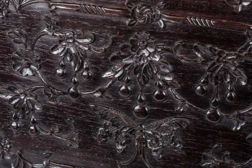 China 19th century Rosewood carving box - photo 2