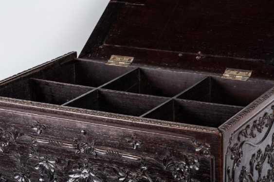 China 19th century Rosewood carving box - photo 5