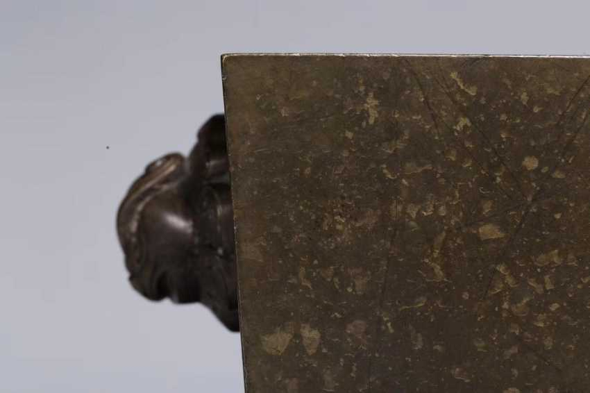 Ming Dynasty copper double lion ear horse trough incense burner - photo 7