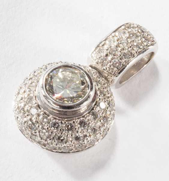 Ожерелье кулон с бриллиантами, - фото 1