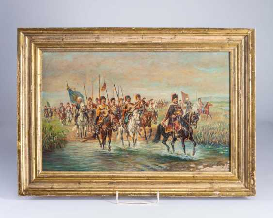 """Painting """"Cossacks Campaign"""". - photo 1"""