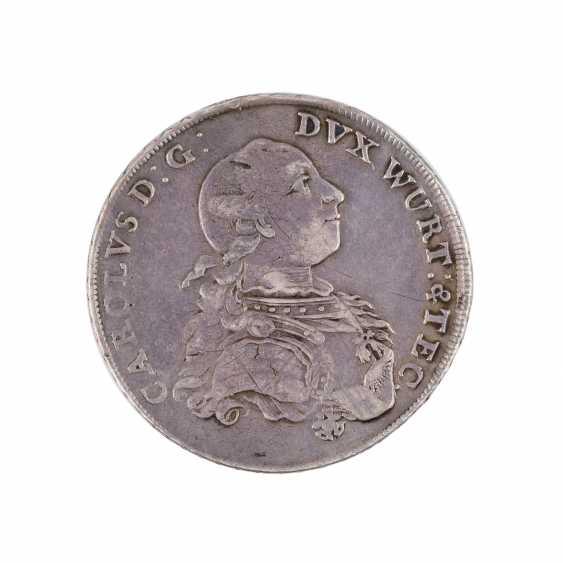 Württemberg-Teck - 1 Taler 1781, Karl Eugen, - photo 1
