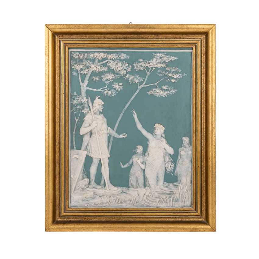 VILLEROY & BOCH/METTLACH Reliefplatte, um 1900. - Foto 2