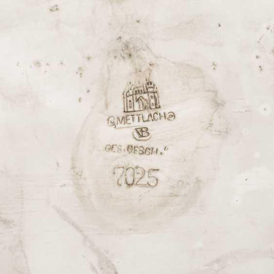VILLEROY & BOCH/METTLACH Reliefplatte, um 1900. - Foto 4