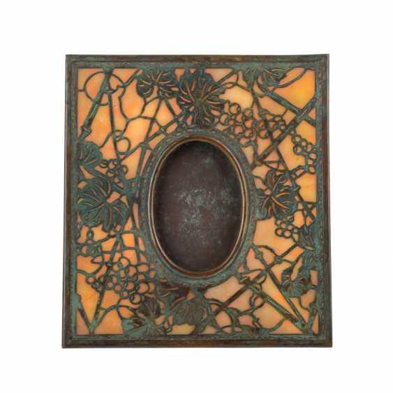 """TIFFANY STUDIOS JUGENDSTIL BILDERRAHMEN """"Grapevine Pattern Frame"""" - Foto 1"""