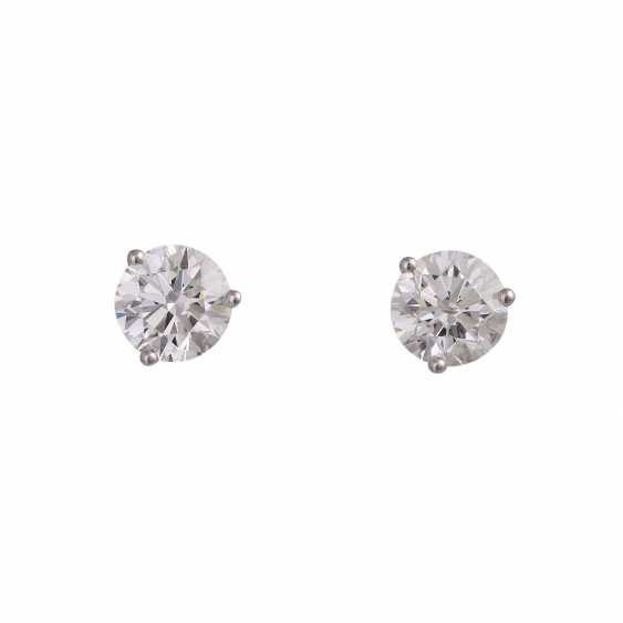 1.5ct Oval Solitaire Earrings Created