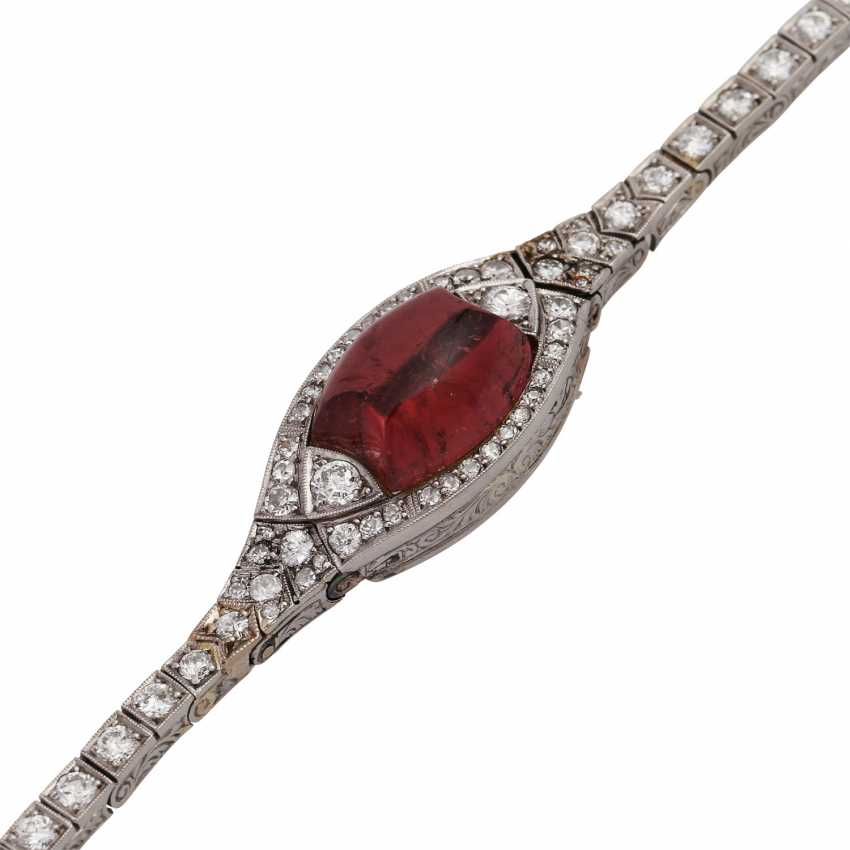 Art Deco bracelet with tourmaline and diamonds - photo 4