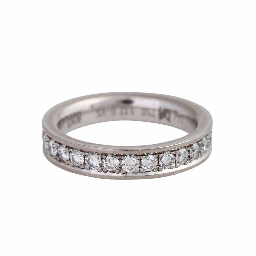 Memory ring with diamonds together approx 1,12 ct, - photo 1
