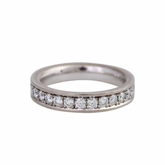 Memory ring with diamonds together approx 1,12 ct, - photo 3