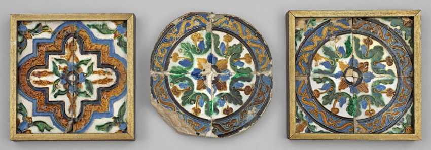 Небольшая коллекция из шести эпохи возрождения плиткой из Севильи - фото 1