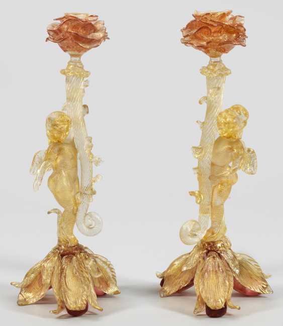 Пара zierkerzen подсвечники с ангелами - фото 1