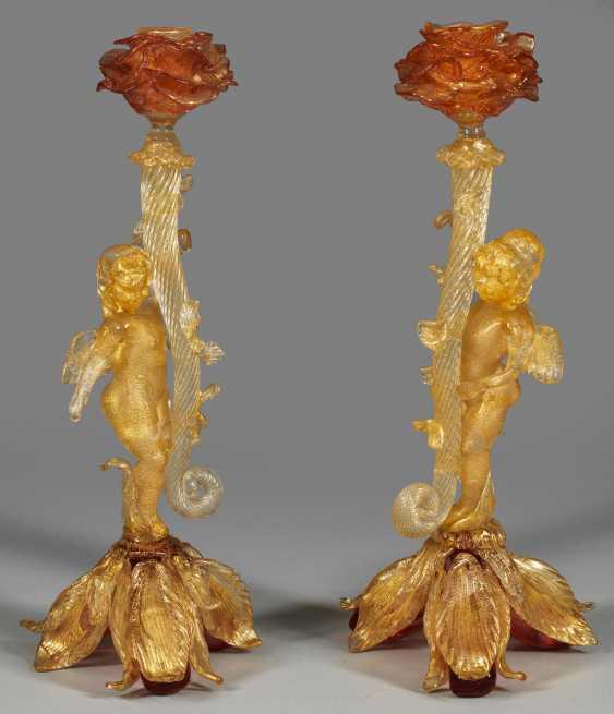 Пара zierkerzen подсвечники с ангелами - фото 2
