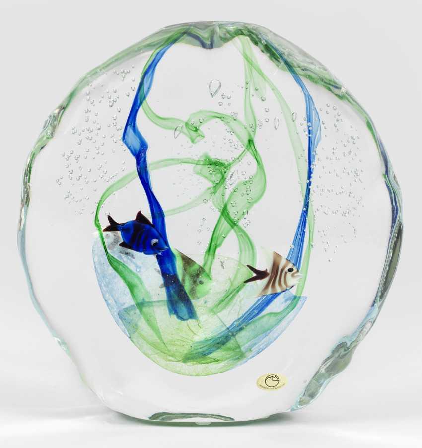 """Большой """"аквариум""""-стеклянная скульптура от Silvano Signoretto - фото 1"""