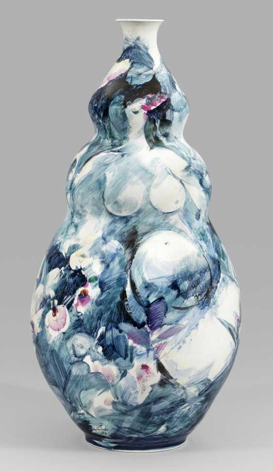 Большой сообщения-напольная ваза с декором - фото 1