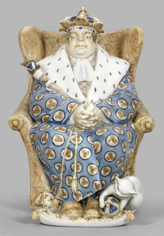 Rare à la Figure d'un Roi avec le Chat - photo 1
