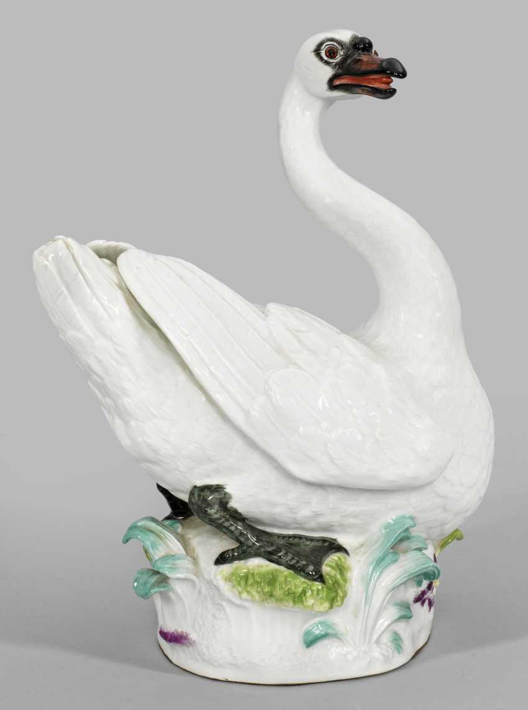 Редкая большая фигура лебедя в качестве панели украшения - фото 1