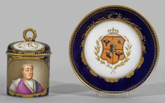 Кружка с крышкой портрет августа III. - фото 1