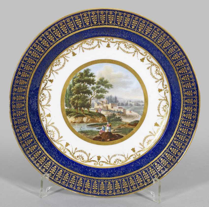 Редкий вид тарелки с пейзажами Декор - фото 1