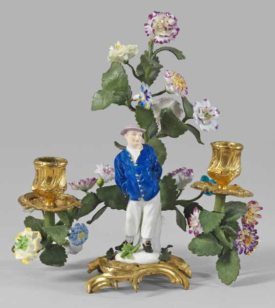 Бронзовый канделябр с фигурой Купец - фото 1