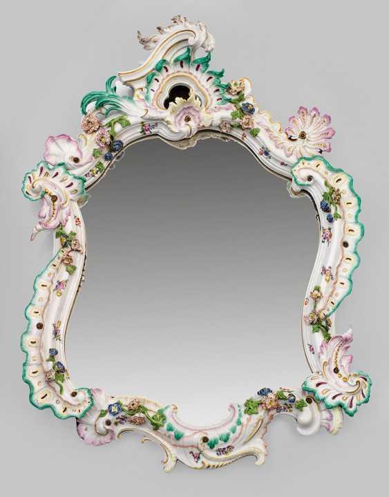 Большое зеркало салона с appliziertem цветочный Декор - фото 1
