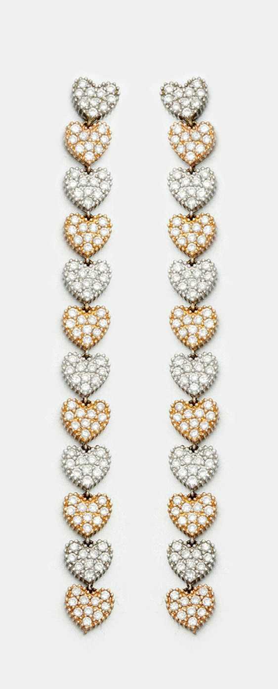 Несколько экстравагантный алмаз серьги - фото 1