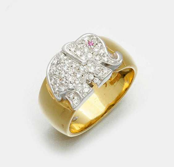 Декоративный блестящий кольцо Wempe - фото 1