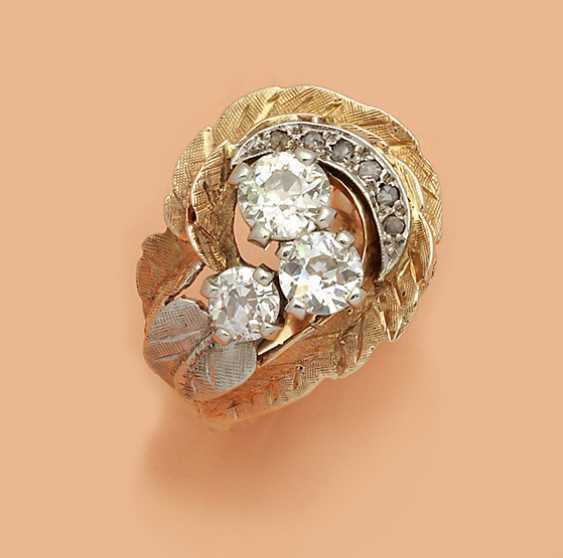 Экстравагантный бриллиантовое кольцо из 40-х годах - фото 1
