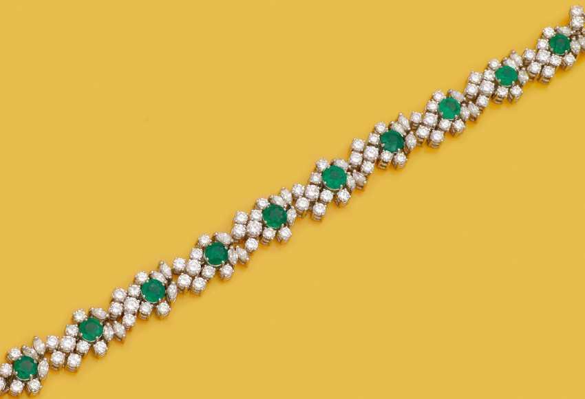 Высокое качество Full Jewel браслет с изумрудной отделкой - фото 1