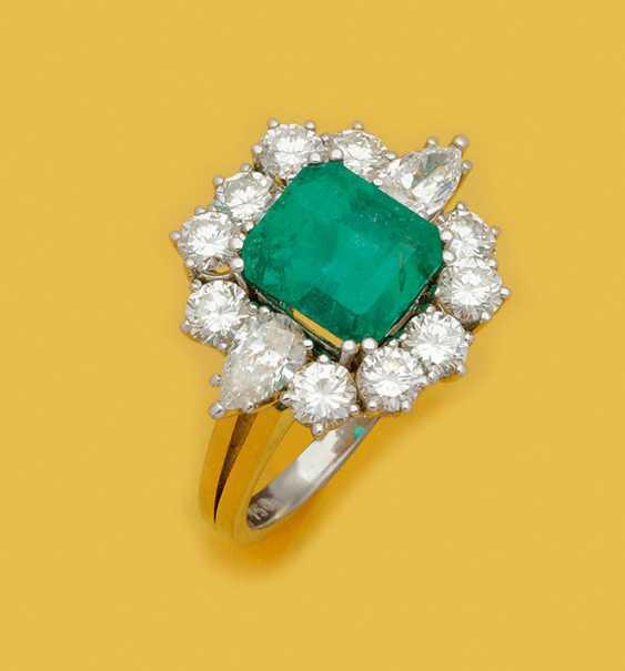 Драгоценность кольцо с редкостным колумбийских Muzo-изумруд - фото 1