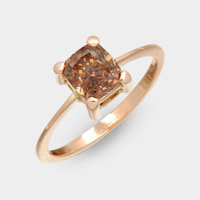 Natürlicher Необычные-Темно-Оранжевый-Diamantring - фото 1