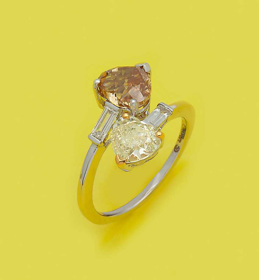 Extravaganter Фантазии-Желтый-Коричневый-Diamantring - фото 1