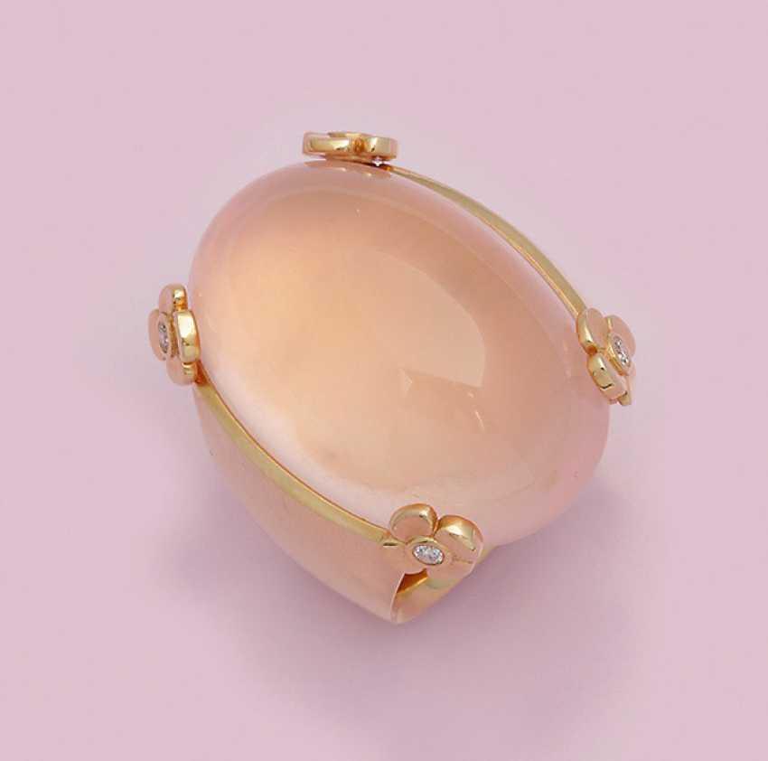 Экстравагантный розовый кварц кольцо от Иоанна Hundt - фото 1