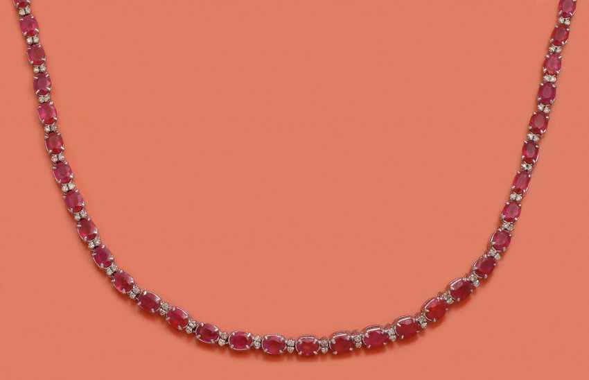 Классический Рубин Ожерелье - фото 1