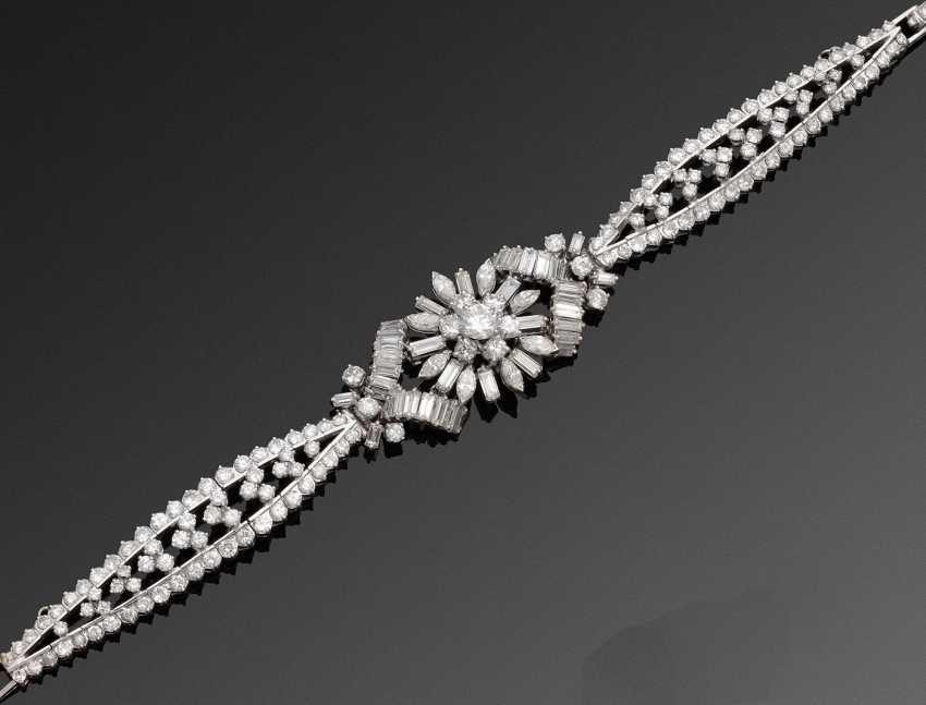 Гламурный бриллиант браслет 50-х годов - фото 1