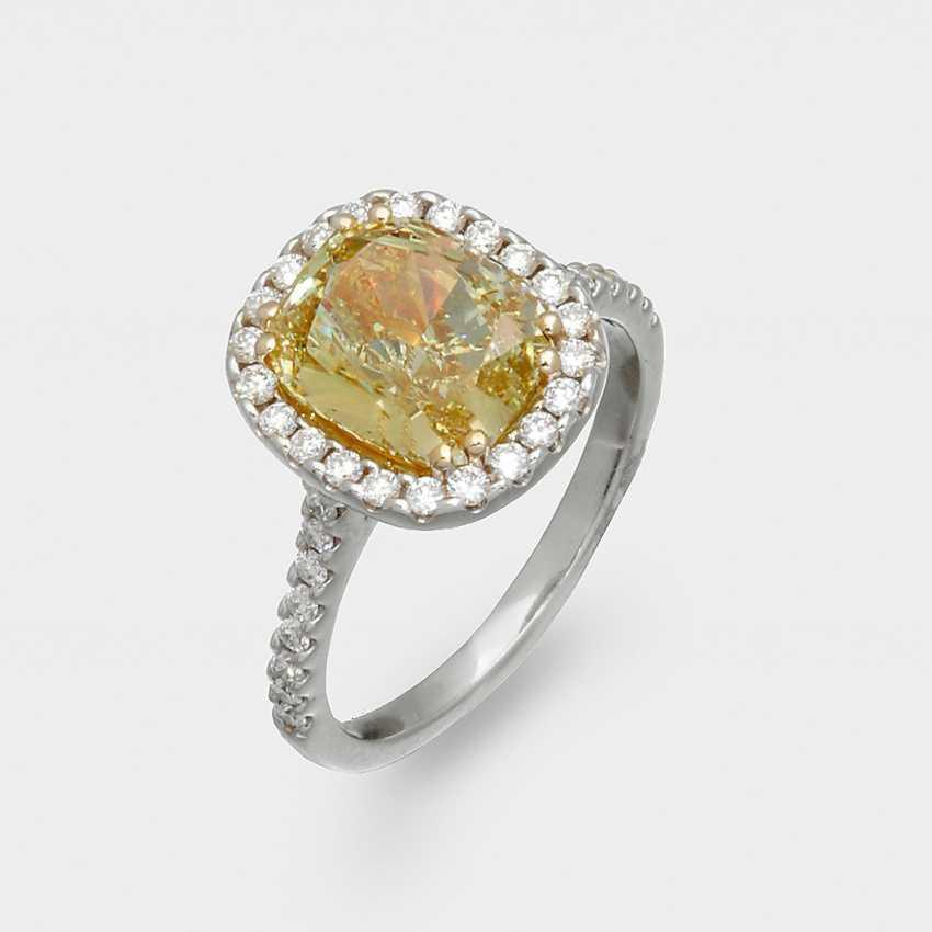 Prachtvoller Натуральный Фантазийный Интенсивно-Желтый-Diamantring - фото 1