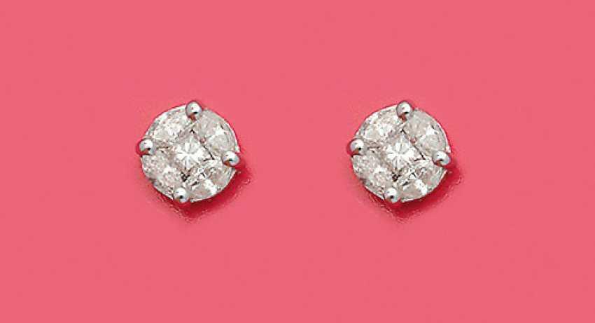 Пара изысканные серьги с бриллиантами - фото 1