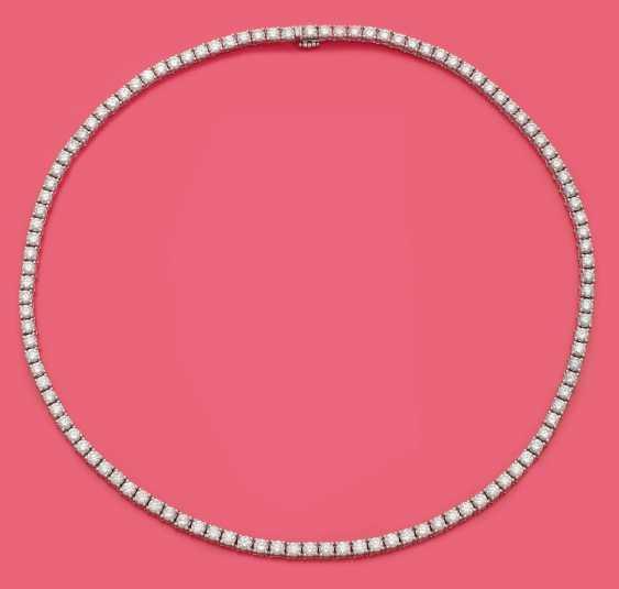 Классический Ривьер-колье с бриллиантом солитарные - фото 1