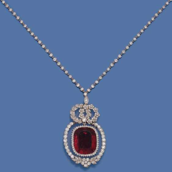Elegantes Juwelen-Diamantcollier mit russischem Rubellit - Foto 1