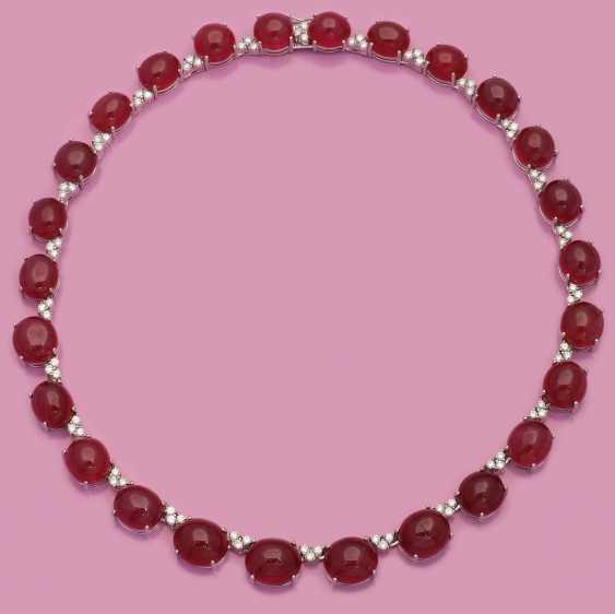 Великолепный драгоценный камень ожерелье с рубинами - фото 1