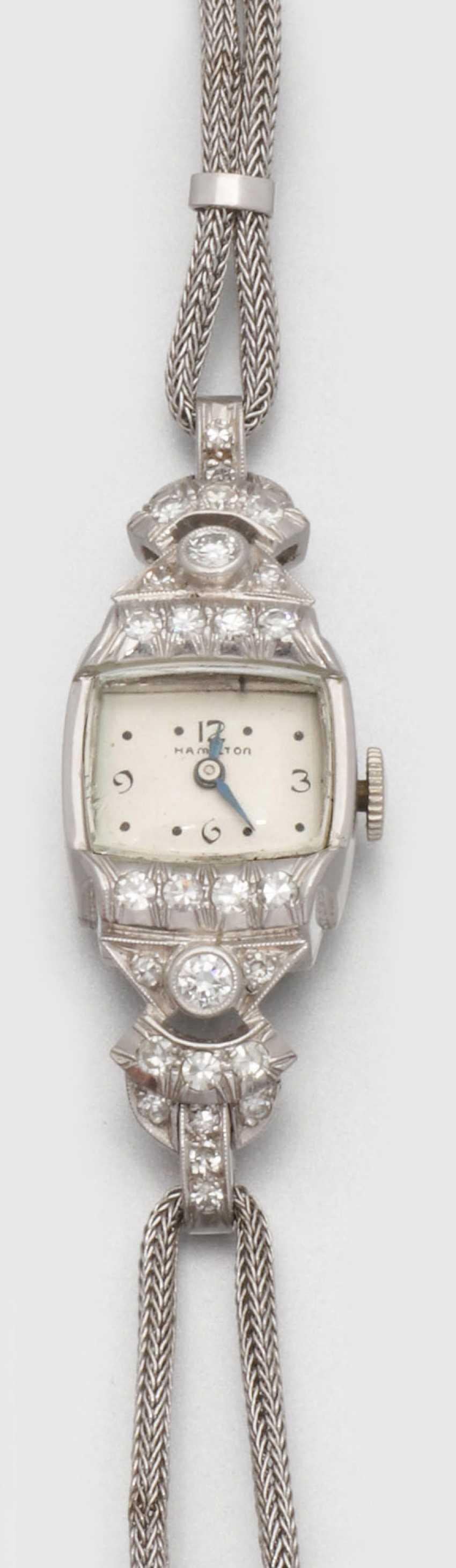 Женские наручные часы Hamilton из 40-х годах - фото 1